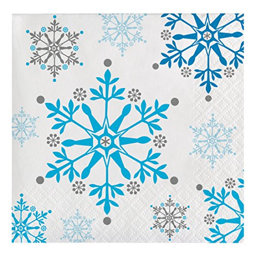 Creative Converting 31714716Count Papier Getränke Servietten, Schneeflocke wirbelt