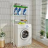 QFFL Tablett Edelstahl-Waschmaschine-Klammer / moderne Toiletten-Zahnstangen / Badezimmer-Balkon-Standplatz-Lagerregal Elektrische dedizierte Basis ( Farbe : Grün )