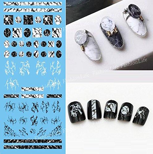Autocollants de transfert à eau pour la décoration des ongles Formes Nail Sticker Tattoo - FashionLife