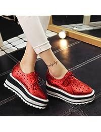 Donyyyy Las Mujeres Zapato Zapato solo las mujeres aumentan el four seasons ocio Zapatos,gules,36