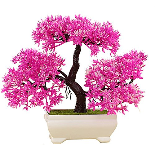 LWBAN-plant Plante Artificielle Bonsaï cèdre Artificiel en Pot, Arbre Artificiel/Bonsai déco, Hauteur 20 cm, 21