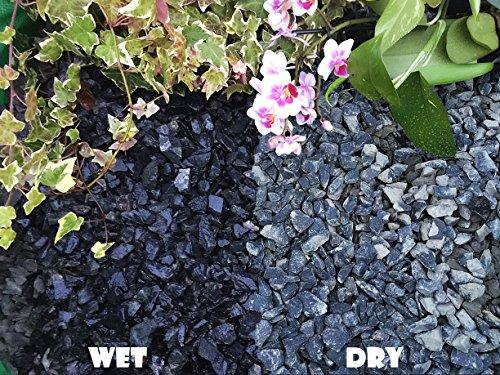 Gravier Gravillons Pierre Ardoise Dissuader les mauvaises herbes Jardin Patio Allée Plante Dessus – Basalte Noir (10–20 mm), 20KG