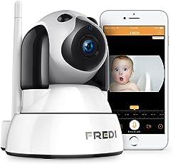 WLAN ip Kamera,720p FREDI HD Überwachungskamera Babyphone mit Kamera WiFi IP Camera hundekamera katzenkamera Haustier Kamera mit Bewegungserkennung IR Nachtsicht 2 Weg Audio mikrofon für Haustier Überwachung indoor