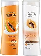 Avon Naturals Papaya Whitening Hand & Body Lotion 200 ml + Shower Gel 200 ml