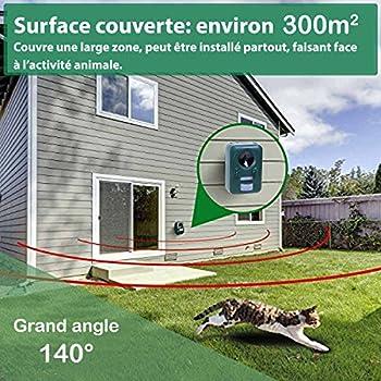 Répulsif solaire à ultrasons - Anti nuisibles - Longue portée - Protecteur de jardin à fréquence réglable - Stop chats rongeur rapaces insectes