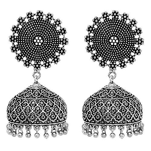 Diwali Gift - Om Jewells Antique finish Stunning Jhumki Earrings ER1000054RHO