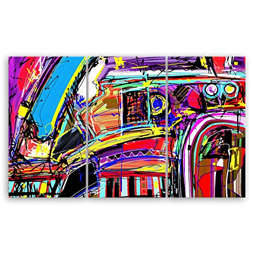 ge Bildet® hochwertiges Leinwandbild XXL - Abstract Composition - 165 x 100 cm mehrteilig (3 teilig) 2076III