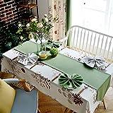 xmmll un idílico paisaje americano tejidos mantel paño de tabla tela lino y algodón comedor mesas sillas cojín del asiento Kit