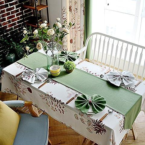 Xmmll un Idyllic Campagne American Tissus Nappe Nappe Tissus en coton et lin à manger Tables Chaises Coussin d'assise kit