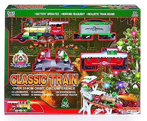 Schöne klassische 52 Stück Batteriebetriebene Zug Set - Festliche Weihnachtsdekoration