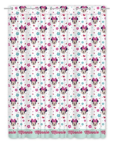 Minnie Love and Spots, Duschvorhang aus flauschigem 140 x 270cms.