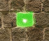 Wisdom LED-Plastersteinleuchte, 5x5,5cm, grün leuchtende Lichtsteine, Leuchtstein, Pflastersteine.