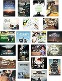 21er Set Postkarten von POSITIVSTARTER Thema Motivation - wunderschöne positive Sprüche und coole optimistische Zitate für Inspiration & Zielsetzung in DINA6