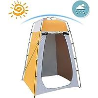 Qdreclod Tenda Portatile per la Privacy, Tenda Cabina da Campeggio, Tenda da Toilette da Campeggio, Impermeabile Tenda da Doccia, 120 * 120 * 180 CM, Include Picchetti, Asta, Corda, Custodia