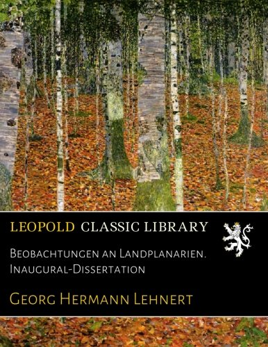 Beobachtungen an Landplanarien. Inaugural-Dissertation