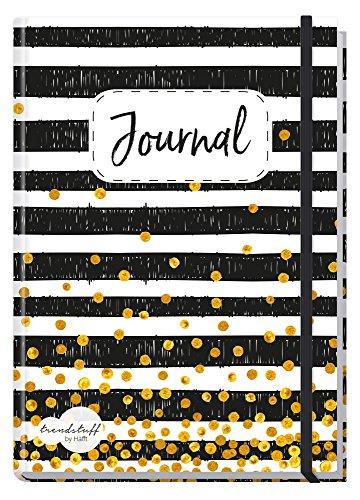 Bullet Journal dotted A5 mit Gummiband [Black & White] von Trendstuff by Häfft   Notizbuch,...