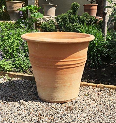 Fatto a mano vaso da fiori in creta, reali terracotta della ceramica resistente al gelo, giardini, terrazze, 30-60cm, yucca2