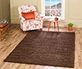 A2Z RUG SOFT SUPER THICK SHAGGY RUGS Chocolate 80X150 CM -2'6''X4'9''