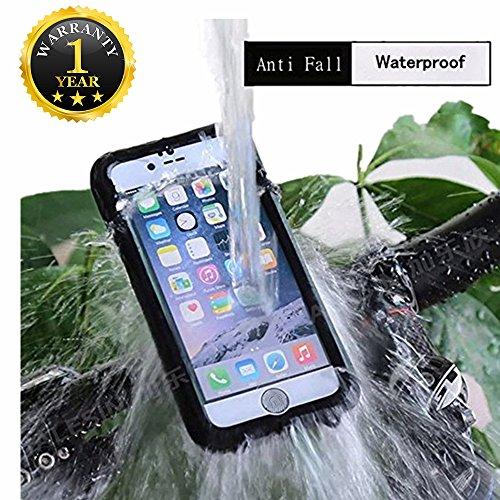 Funda para teléfono Carcasa resistente al agua para bicicleta Motor Mounts soporte de teléfono para iphone 6/iPhone 6s/iPhone 6Plus/Huawei/Samsung/hockproof Case Kit con ajustable