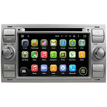 silber 7 zoll doppel din android 5 1 lollipop os autoradio f r ford focus 2005 2007 fiesta. Black Bedroom Furniture Sets. Home Design Ideas