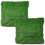 Bada Bing 2er Set Kissen RASEN Dekokissen Ca. 40 x 40 Cm Gras Wiese Grün Garten WM Deko Trend 72