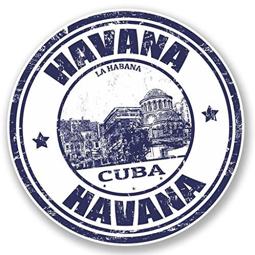 Preisvergleich Produktbild 2x Havana Kuba Vinyl Aufkleber Aufkleber Laptop Reise Gepäck Auto Ipad Schild Fun # 4583 - 10cm/100mm Wide