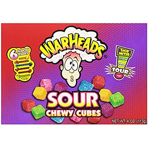 Warheads Sour Chewy Cubes Sour Gummy Candy,