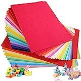 Cartulina de colores A4, 100 unidades, 230 g, 20 colores variados, papel de origami, manualidades y decoración, papel de dibu