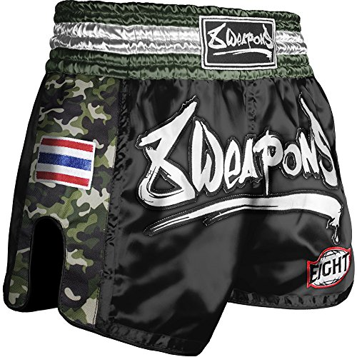 8 WEAPONS Shorts, Ultra Camo, Dark Green, Muay Thai Hosen, Short, Thaiboxhosen Größe XXL (Muay Thai Shorts Camo)