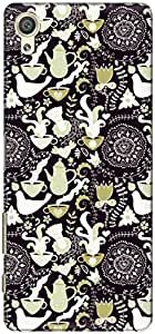 The Racoon Lean printed designer hard back mobile phone case cover for Sony Xperia X. (Indigo Lov)