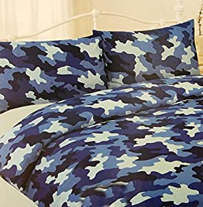 housse couette armee camouflage militaire 2p couverture