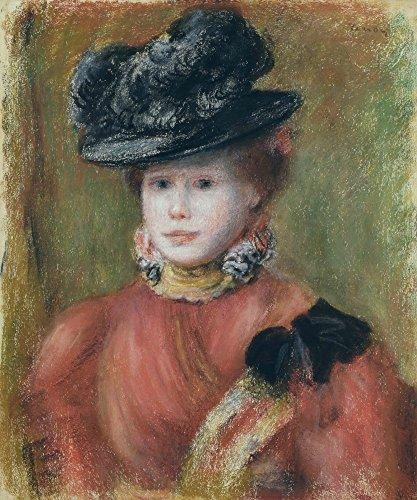 Das Museum Outlet-Frau in einer Rot Corsage und eine Schwarz Hat, 1894, gespannte Leinwand Galerie verpackt. 29,7x 41,9cm -