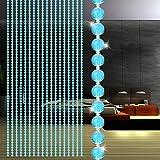 erthome Runde Kristallglas Bead Vorhang | Wohnzimmer Schlafzimmer Dekor Fenster Tür Quaste String Vorhang (A)