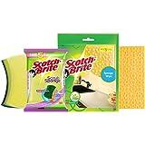 Scotch-Brite Scrub Sponge Large (Pack of 2) and Sponge Wipe Large (Pack of 3) (3M02)