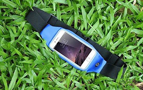 Vandot marsupio sportivo marsupio per Jogger, Running e Outdoor impermeabile Belt Borsa marsupio Borsa da cintura corsa Bag per Cellulari e Smartphone fino a 4.7Pollici (iPhone 4S 55S 5C se 66s Sa Blau_5.5 Zoll