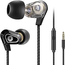 Beexcellent In Ear Kopfhörer, Dual Dynamic Treiber Bass Kopfhoerer Noise Cancelling Ohrhörer mit Mikrofon für iPhone Android Smartphones Tablets MP3 Player