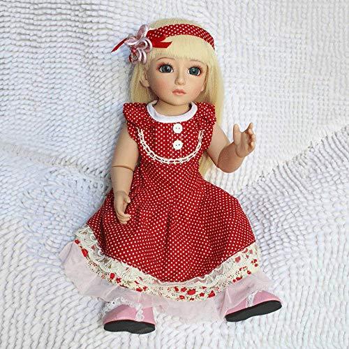 s 18 Zoll Stehend American Full Body Vinyl Silikon Reborn Realistische Neue Reborn Girl Dolls Suchen Echte Lebensechte Anatomisch Korrekte Mode Dolls Xmas Gift,Blonde ()