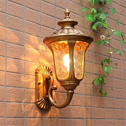 Ehime Außenwandleuchten Anti-Rost-und Korrosionsschutz Außenleuchte Garten Lampe Wandleuchte Beleuchtung Beleuchtung Wandleuchte Post Tür-Tor Licht wasserdichte Beleuchtung Outdoor-Wandleuchte nach oben Bronze - Bronze Doppel-post