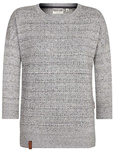 Naketano - Pull - Uni - Femme Natural Black-Grey Melange