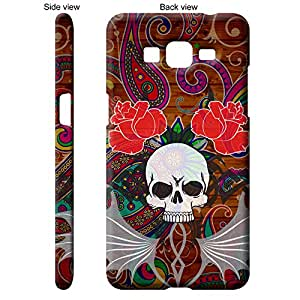 TheGiftKart™ Abstract Art Scary Skull Tattoo 14th Design Back Cover Case for Samsung Galaxy Grand Prime - Multicolor