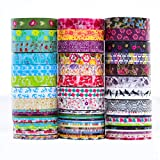 24 Rollen Washi Tape Set - 24 Rollen 8mm breit,dekorative Abdeckband für DIY Craft...