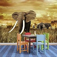 Elefante africano Fotomurales Animales de Safari murales pared Decoración del dormitorio de los niños Disponible en 8 Tamaños Gigantesco Digital