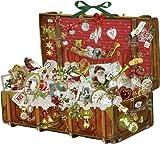 Large Nostalgic Christmas Suitcase Traditional Card Christmas Advent Calendar 55cm