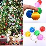 TOPmountain 6pcs Albero di Natale bauble Xmas Hanging Decor Pendent Festive casa Materiali da giardino colorato