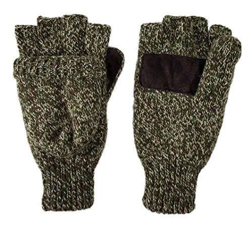 bruceriver-uomo-donna-knit-convertible-guanti-senza-dita-del-guanto-guida-con-coperchio-colore-olive