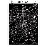 Mr. & Mrs. Panda Poster DIN A3 Stadt Hannover Stadt Black -