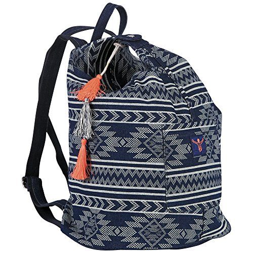 Chiemsee Damen Denim Backpack Rucksack, Blau (Navy), 21x41x31 cm