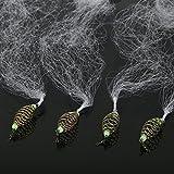 Fischernetze Angeln Net Kupfer Nylon mit Leuchtperlen für Nacht Angeln 4 Stück(10#)