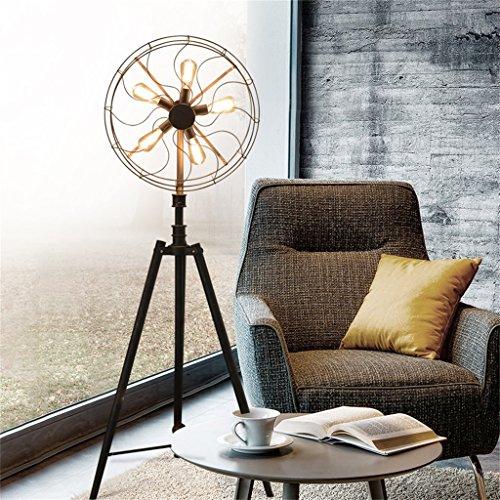 LightSei- Amerikanisches Dorf-Retro- industrielles Wohnzimmer-Schlafzimmer-Individualität-kreative dekorative Ventilator-Fußboden-Lampe