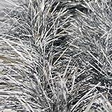 Guirnalda para Navidad de 1,8M Tres Decoraciones en Papel Aluminio Plateadas